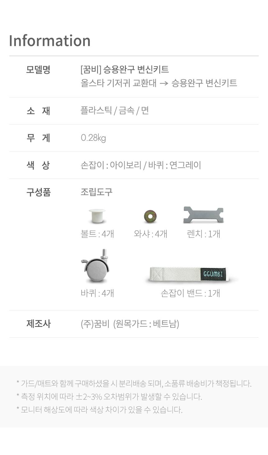 승용완구 변신키트 info